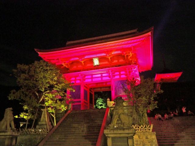 清水寺ピンクイルミネーション